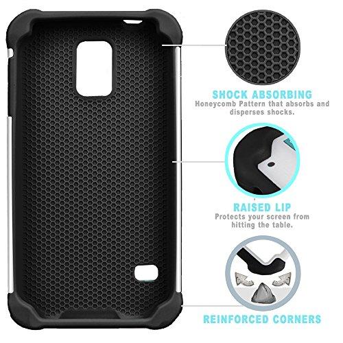 STPlus Gato en una caja Animal Doble Capa de Protección Rígido + Flexible Silicona Carcasa Funda Para Samsung Galaxy S5 #5