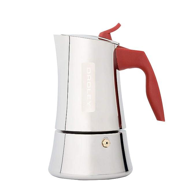 Oroley - Cafetera Italiana Stilla Inducción de Acero Inoxidable, 2 ...