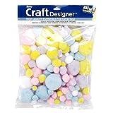 Darice Craft Pom Pom Balls 100 Count Spring Easter Pastel Colors