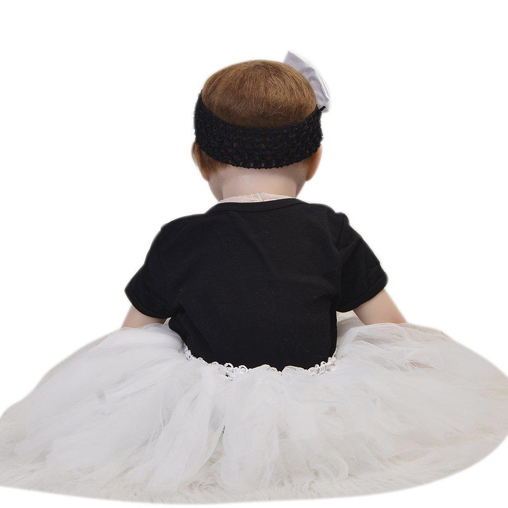 c49ac7615a48 KEIUMI Realista Baby Doll Reborn Recién Nacido Que se ve Real 22 Pulgadas  Realista Silicona Suave Muñeca ...