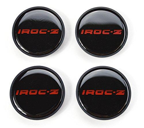 Camaro Iroc Z (GM Restoration 1985-1987 IROC Z Camaro Z28 16 inch Aluminum Wheel Center Caps Red Set of 4 New)