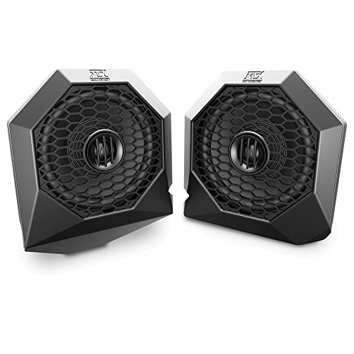 MTX Polaris RZR Dash Mount All-Weather Speaker Pods (Mtx Stereo Speakers)