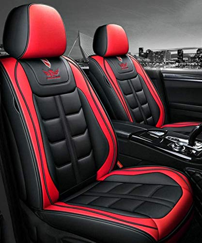 Lederen bekleding, Universal Car Seat Covers Set, Waterdicht voorstoelen en achterbank complete set for de auto…
