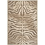 Safavieh Paradise Collection PAR83-603 Brown and Cream Viscose Area Rug (5'3'' x 7'6'')