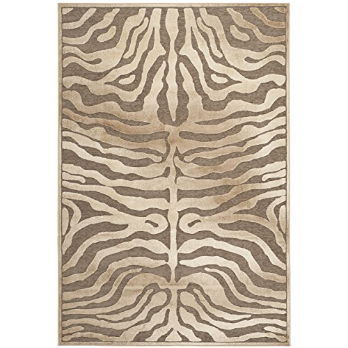 Safavieh Paradise Collection PAR83-603 Brown and Cream Viscose Area Rug (5'3'' x 7'6'') by Safavieh