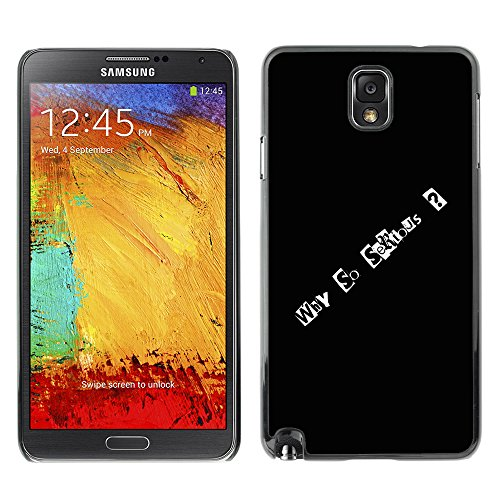 iKiki Tech Hard Case for Samsung Galaxy Note 3 N9000 - Why So Serious