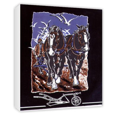 The Plough, 1997 (linocut and w/c on paper).. - Canvas - Medium - 30x45cm art247
