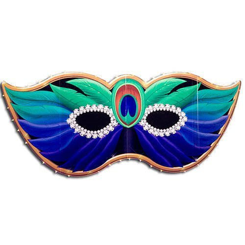 Peacock Mardi Gras Mask Standee Party Decoration by Shindigz -