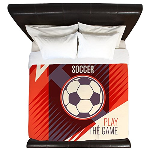 King Duvet Cover Soccer Football Play The Game Red by Royal Lion
