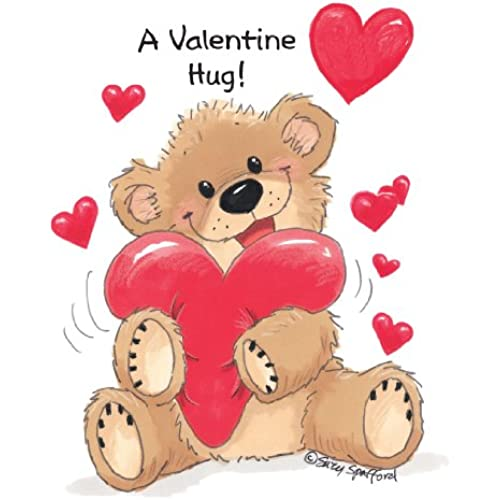 Suzy's Valentines Card Collection Stationery, Willie Bear Valentine Hug - 10862 Sales