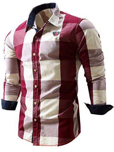 Neleus Mens Sleeve Button Shirts product image