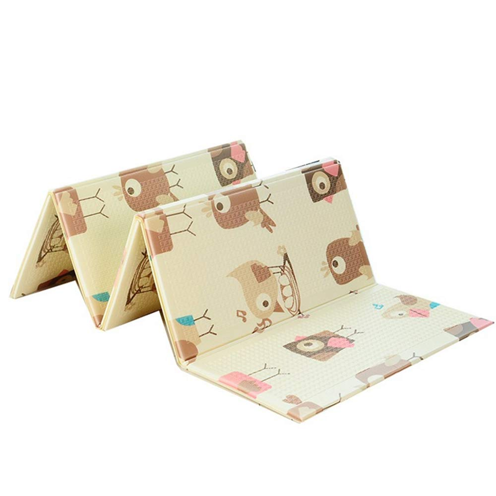 ADSRO Folding Baby Game Mat, XPE Foam Game Pad Waterproof Toddler Playing Crawling Mat, Portable Non-Toxic Activity Mat