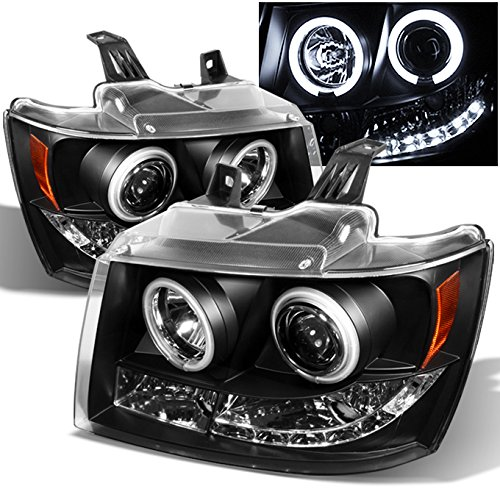 - For Suburban Avalanche Tahoe Black Dual CCFL Halo Ring LED DRL Projector Replacement Headlights Lamp