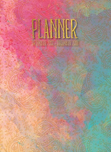 2018 Painted Paisley Watercolor Monthly Planner