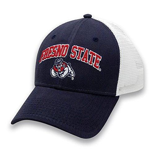 NCAA Fresno State Bulldogs Adult Unisex The Game Everyday Trucker Mesh Hat, Adjustable, (Fresno State Bulldogs Baseball)