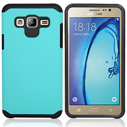 Galaxy J7 Neo J701M/J7 Nxt J701F/J7 Core J701 Case, with Screen Protector & Stylus, Telegaming Dual Layer Defender Impact Resistant Armor Cover for Samsung Galaxy J7 J700 /Core Duos J701FZ (Teal)