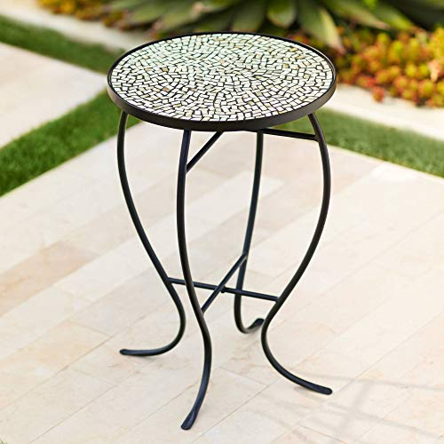 Teal Island Designs Zaltana Mosaic Outdoor Accent Table (Ideas Tabletop Mosaic)