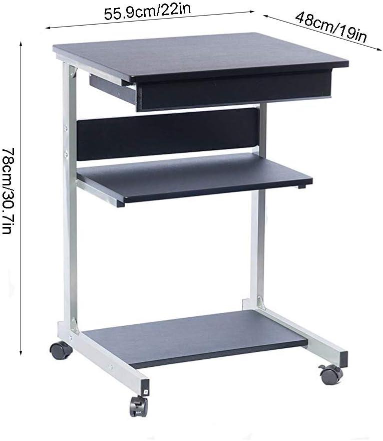 Carro de escritorio para computadora con soporte para impresora ...