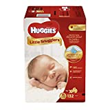 HUGGIES Little Snugglers Baby Diapers, Size Newborn, 132 ct