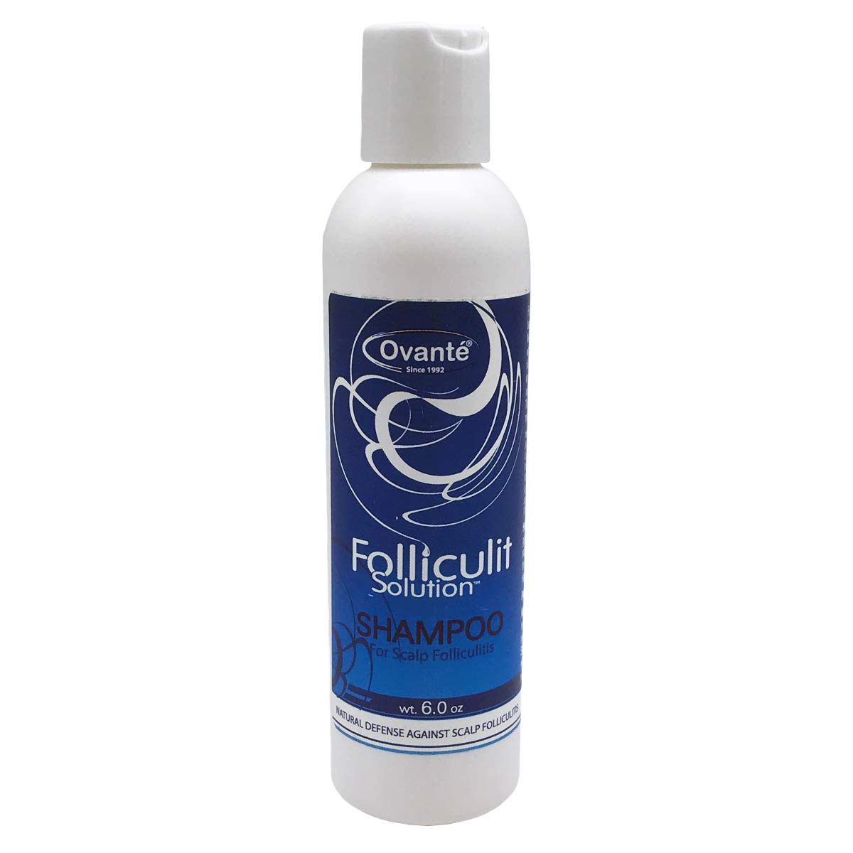 Folliculitis Anti-Bacterial, Anti-Fungal Shampoo, Treatment of Fungal Bacterial, Infection of Hair Follicles, Ringworm, Itching-Greasy Scalp, Dandruff, Scalp Folliculitis - 6.0 oz by OVANTE