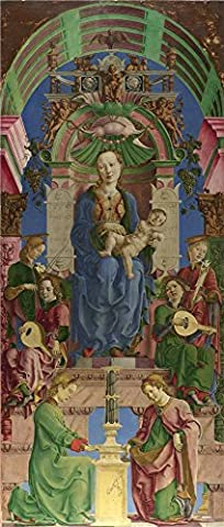 Polyster Canvas ,the High Definition Art Decorative Prints On Canvas Of Oil Painting 'Cosimo Tura The Virgin And Child Enthroned ', 12 X 28 Inch / 30 X 72 Cm Is Best For Dining Room Decor And Home Gallery Art And - Eric Johnson Guitar Tab