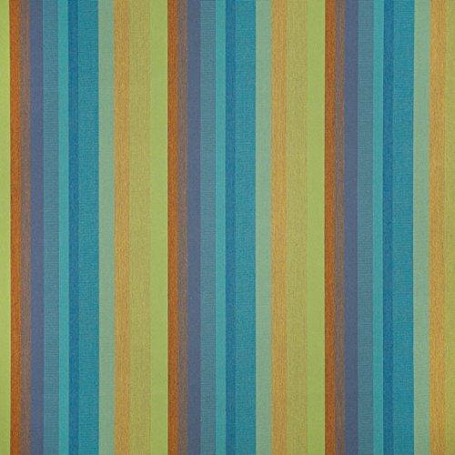 Sunbrella Outdoor Astoria Stripe Lagoon Fabric By The (Lagoon Pillow)