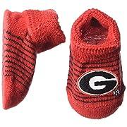 Two Feet Ahead NCAA Georgia Bulldogs Infant Stripe Gift Box Booties, New Born, Red/Black