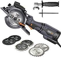 TACKLIFE Scie Circulaire Compacte, 6 Lames (120mm et 115mm), Guide Laser, 710W, Profondeur de Coupe 42,9mm (90°), 34,9mm...