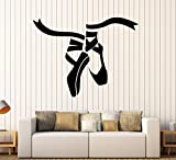 Vinyl Wall Decal Ballet Dance Studio Shoes Stickers Mural (ig4136) Black