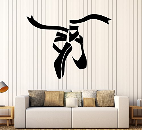 Vinyl Wall Decal Ballet Dance Studio Shoes Stickers Mural (ig4136) Dark Blue by Wallstickers4you