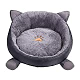 Pet Cat Sleeping Bed Warm House Cozy Dog Bed Kitty Cuddler House Pets Nest,Warm Detachable Doghouse Beds for Small Medium Dogs Pets in Cold Weather