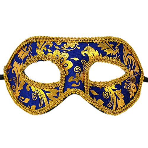 Rehot Mens Masquerade Mask Vintage Half Face Party Mask Mardi Gras Christmas Halloween Mask -