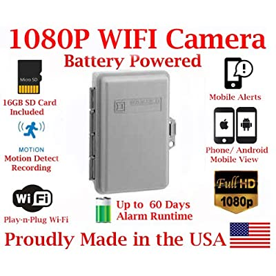 Image of 1080P True Full HD Battery Powered WiFi Electrical Utility Box Alarm IP Spy Camera P2P Wi-Fi Mobile Hidden Camera Spy Gadget up to 60 Day RUNTIME (with Remote View, Remote Playback and Mobile Alert) Hidden Cameras