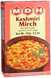 MDH Kashmiri Mirch (Red Chilli Powder), 3.5-Ounce Boxes (Pack of 10)