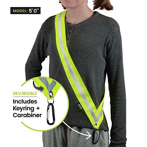 MOONSASH Mini - Patented Reflective Night Safety Gear for Kids & Small Adults > A Must Have for Young School Commuters > Reversible, Comfortable, Practical & Stylish Safety Band