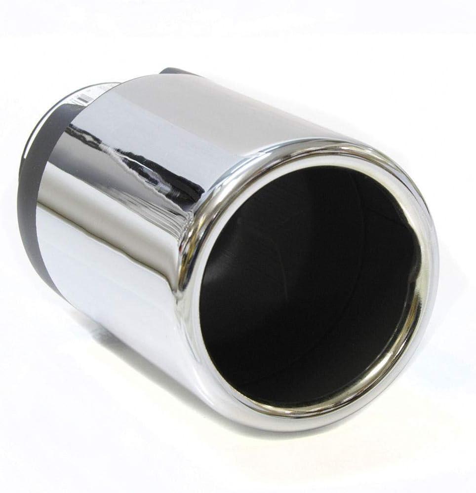 Autohobby 177 Endrohr Auspuffblende Auspuff Edelstahl Sportauspuff Universal Chrom Tuning Blende Schalldämpfer Auto
