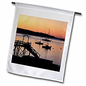 3dRose fl_90677_1 Sunrise in Boothbay Harbor Maine US20 Jmo0747 Jerry and Marcy Monkman Garden Flag, 12 by 18-Inch