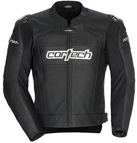 Cortech 8971-0205-09 Men's Adrenaline 2.0 Leather Jacket (Black, XXX-Large), 1 Pack by Cortech