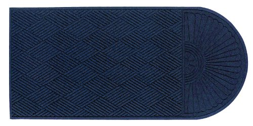 Andersen 22248 Waterhog Eco Grand Premier PET Polyester Fiber Single End Entrance Indoor/Outdoor Floor Mat, SBR Rubber Backing, 7' Length x 6' Width, 3/8'' Thick, Indigo by The Andersen Company