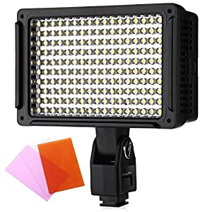 Powerextra 170 LED Light Panel VL003-170 14W Dimmable Studio, Camcorder Video Light for Canon Nikon Pentax Samsung Fujifilm Olympus Panasonic Sigma Leica Ricoh and others DSLR Cameras
