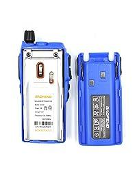 2PCS BaoFeng UV 82 UV82 5W correa dual VHF   UHF Radio de dos vías portátil analógica azul
