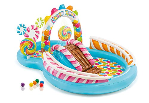 Inflatable Kids Candy Zone Water Play Center Swimming Pool 57149E ()