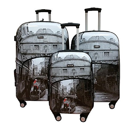 Kemyer, 888 Hard Shell Wheeled Spinner 3 Pc Set 29-inch/25-inch/20-inch Luggage Set (Venice)
