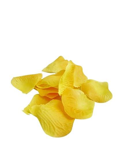 Amazon classykidzshop yellow loose silk artificial rose petal classykidzshop yellow loose silk artificial rose petal flowers mightylinksfo