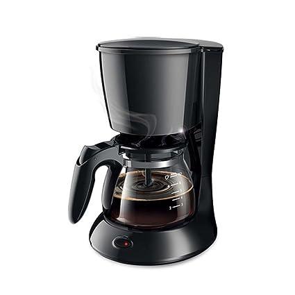 Máquina de café Inicio Tipo de Goteo Automático Pequeño Cafetera Negro Rosa (Color : Black