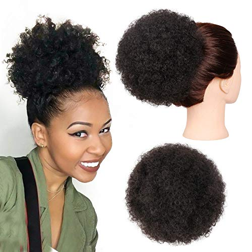 Search : Ponytail Afro Puff Curly Puff Drawstring Ponytail Synthetic African American Ponytail Warp Hair Extensions for Black Women(2#-M)
