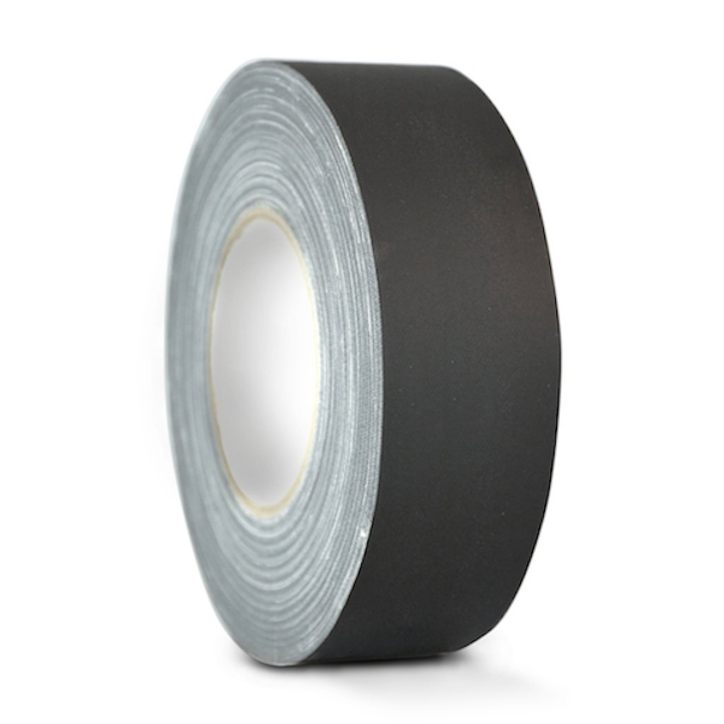 T.R.U. CGT-80 Black Gaffers Stage Tape with Rubber Adhesive, 2.5 in. wide x 60 Yards length, 12MIL Thickness (Pack of 1)
