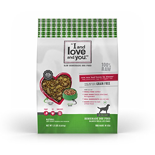 I and love and you In the Raw 'Raw Raw Beef Boom Ba' Homemade Freeze Dried, Grain Free Dehydrated Dog Food, 1.5 LB