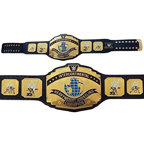WWE/WWF - Cinturón de piel réplica para adulto (talla única), color negro