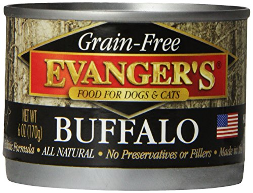 - Evanger'S 776260 24-Pack Grain Free 100-Percent Buffalo For Dogs And Cats, 6-Ounce